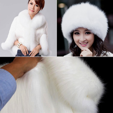 "Top quality White Solid SHAGGY FAUX FUR FABRIC (LONG PILE FUR), costumes, fur coat. fur collar,36""X60"" BTY, FREE SHIPPING"