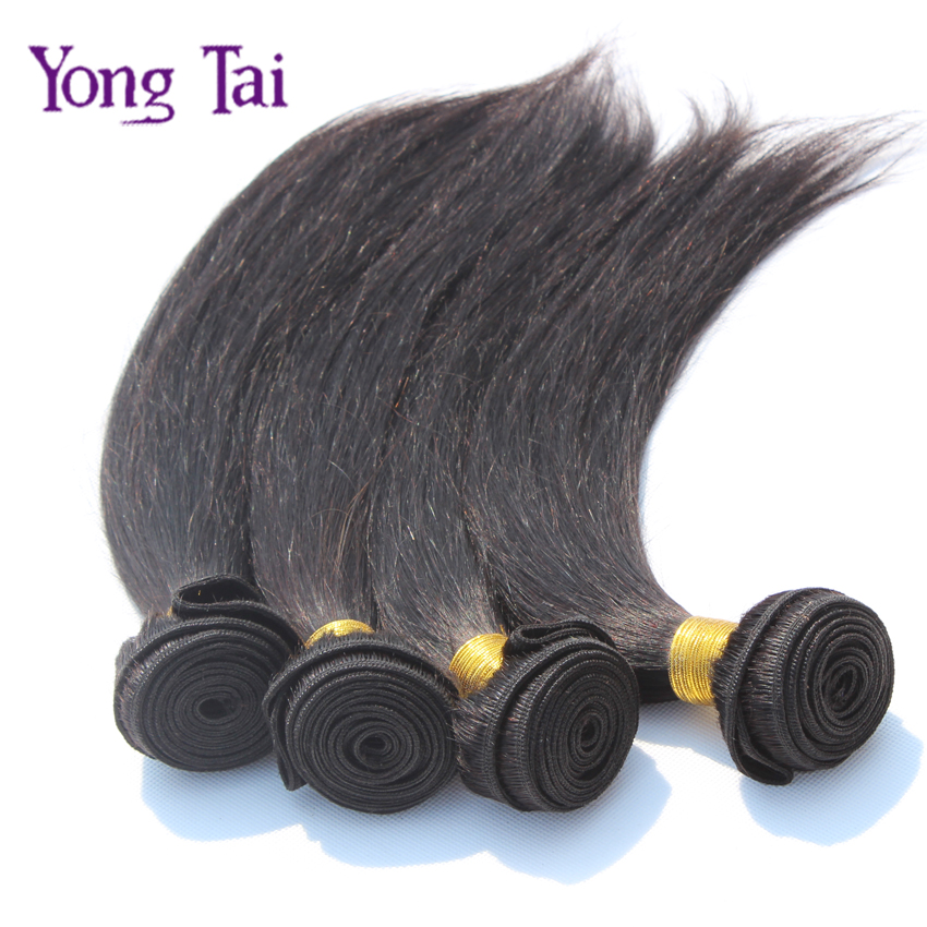6A Indian virgin hair 1pcs lot straight human hair natural black color1b hair unprocessed virgin indian hair straight extensions<br><br>Aliexpress