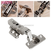 35mm Soft Close Full Overlay Kitchen Cabinet Cupboard Hydraulic Door Hinge Cups #S018Y# High Quality