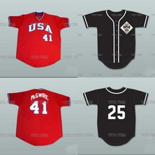 Mark McGwire 25 USA Team Baseball Jersey Custom Any Name Any Number High Quality Stitched Baseball Jersey S-5XL Free Shipping(China)