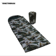 YINGTOUMAN Camouflage Sleeping Bag Outdoor Mountaineering Camping Hiking Camping Adult Sleeping Pad Army or Military(China)