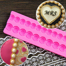 Pearl Bead Chain Silicone Fondant Mould Cake Chocolate Decorating Baking Mold DIY Kitchen Accessories CT401