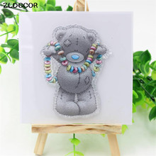 ZLDECOR Lovely Bear Transparent Clear Silicone Stamps for DIY Scrapbooking/Card Making/Kids Fun Decoration Supplies