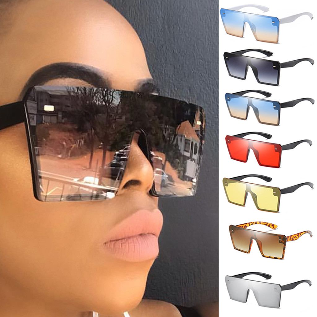 Sunglasses Women Shades Square Must-Have Oversize Motorcycle Retro-Style Vintage Gradient title=