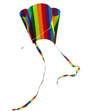 High Quality Supplest Pocket Kites For Kids 31-Inch Rainbow Parafoil Kite With Flying Tools Factory Outlet(China)