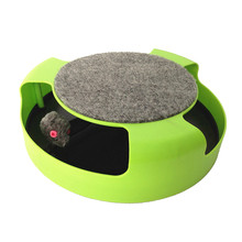 Pet Cat Kitten Motion Moving Mouse Play Toy Interactive Training Scratchpad Fun