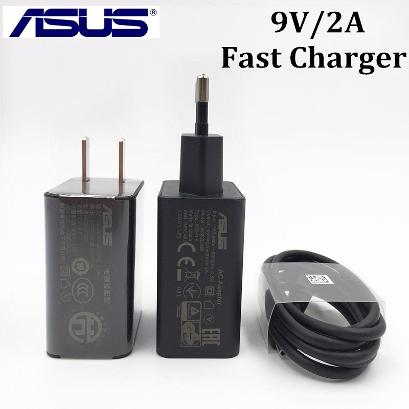 Original ASUS Zenfone Boostmaster Charge Fast Charger For ASUS Zenfone 2 ZE551ML Selfie/Go/3 Ultra Deluxe 9V/2A Wall AC Adapter(China (Mainland))