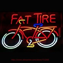 RaRe Fat Tire Neon Sign Neon Bulbs Led Signs Shop Display Custom Real Glass Tube Handcraft Decorated Attract Sign 19x15
