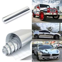 152*20cm Silver Chrome Waterproof UV Protected Auto Mirror Vinyl Wrap Film Car Sticker Decal Sheet 8x60 inch