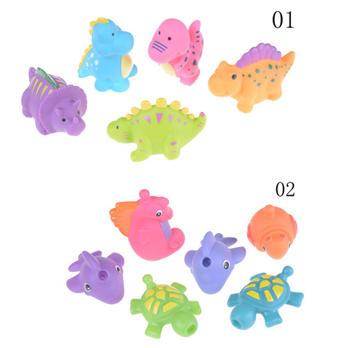 4Pcs Baby Bath Animals Toys Kids Float Water Tub Rubber Bathroom Play Toy NB