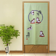 ZHH Korean Garden Five Cat Curtain Sitting Room Bedroom Half Shade Curtain Partition Knitted Curtain Wedding Curtain 85*150