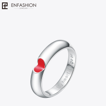 Buy EnFashion red heart ring love finger couple rings silver color rings women wedding ring stainless steel jewelry wholesale for $5.40 in AliExpress store