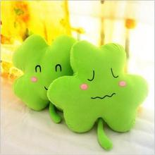40cm. Wholesale plush toys. Look happy. Love clover clover pillow cushion. The lucky grass doll. Valentine's Day gift(China)
