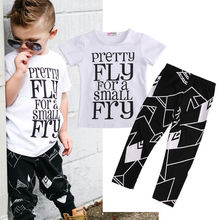 Toddler Kids Baby Boys Clothes Sets T-Shirt Tops + Trousers Pants Casual Clothing Fashion Outfits Set Summer Short Sleeve