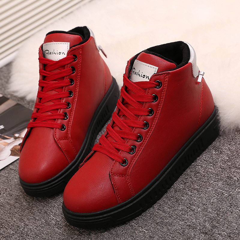 In The Warm Winter Thick Non-slip Waterproof Footwear Student Shoes Korean Version Increased Cotton Snow Boots Female Boots<br><br>Aliexpress
