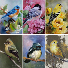 Needlework 5D DIY Diamond Painting Birds 3d Diamond Embroidery Animal Crafts Square Drill Full Embroidery Home Decoration Flower(China)