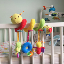 New Infant Toys Baby Crib Revolves Around The Bed Stroller Playing Toy Car Lathe Hanging Baby Rattles Mobile baby Drop shipping(China)