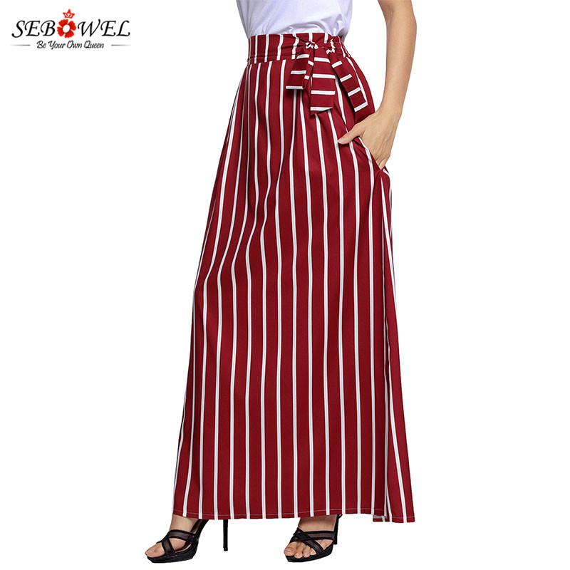 Burgundy-Striped-Maxi-Skirt-LC65037-3-7