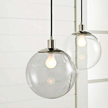 Designer lights Crystal Ball Continental Restaurant Bar Single Minimalist Glass Ball Pendant Light Clear Glass Ball