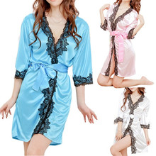 Amazing Women Erotic Porn Lace Bathrobe Sexy Lingerie Sleepwear Dress Nightdress Nightgown Bath Robes Gown Babydoll Accessories(China)