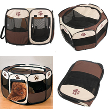 72*72*45CM Pet Tent Oxford Folding Playpen Dog Fence Puppy Kennel Foldable Design Portable Dog Beds Play IN House or Outdoor