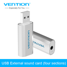 Vention USB to 3.5mm Sound Card Mic Speaker 3D External Sounds Cards Adapter For WinXP/7/8/10 Vista Chrome os for Earphone Aux(China)