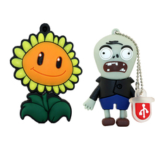 usb flash drive pen drive usb 64gb 32g16g8g4g flash drive Classic games Plants vs. Zombies usb stick pen drive(China)