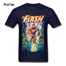 Flash The Crimson Comet T Shirt Man's 100% Cotton Short Sleeve O Neck Tshirt Guy Costume 2017 Wholesale T-shirt For Man(China)