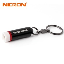 NICRON 0.25W Mini Micro Keychain Flashlight Lamp Light color torch battery batteryled flashlight Carabiner Torch waterproof led(China)