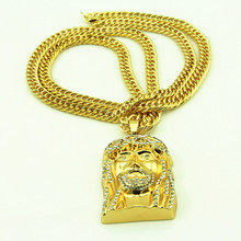 New Bling Jesus Pendant Hip Hop Necklace