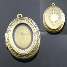 22x29mm Vintage Antique Bronze Brushed Photo Locket Openable Oval Cross Wish Box Prayer Frame Pendant European Charms Wholesale