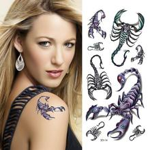 Scorpion Tattoo Designs 3D Small Tattoos Body Art Waterproof Temporary Tattoo Stickers Latest Products