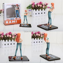 "Anime One piece Nami  blue 5.6"" New world Action figure new in box"
