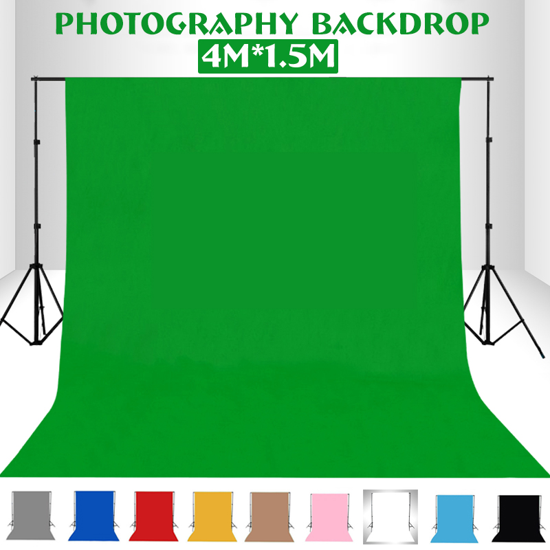 Photography Studio Backdrop Lighting Chroma Key Green-Screen Non-Woven for 10-Colors title=
