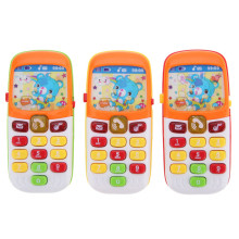 Kid Toy Phone Cellphone Mobile Phone Early Educational Learning Toys Machine Music Electronic Phone Model Infant Baby Toys