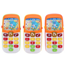 Kid Toy Phone Cellphone Mobile Phone Early Educational Learning Toys Machine Music Electronic Phone Model Infant Baby Toys(China)