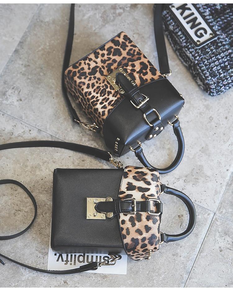 shop Leopard print designer replica black bag on sale
