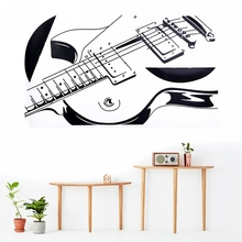 Mayitr Guitar Wall Stickers Art Mural Vinyl Decal Home Decoration Wallpaper Removable Musical Instrument Wall Stickers