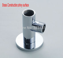 Brass Shower arm Holder for Refit shower head exposed chrome plated Shower kit fixed seat adapter bathroom accessories