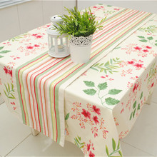 Europe Style Cotton Canvas Rainbow Striped Table Runner for Home/Hotel Double layer canvas 30*180cm 30* 210cm Accept Customized