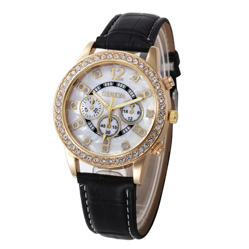 Casual Wrist Watches For Women Geneva Three Eyes Dial Clock Leather Belt Female Hour Quartz Ladies Watch Waterproof Reloj Mujer<br><br>Aliexpress