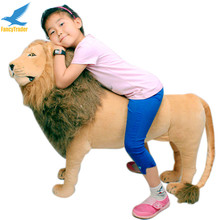 Fancytrader As Real 43'' 110cm Giant Soft Plush Stuffed Simulation Lion King Simba Kids can Ride FT90284