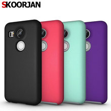 For Google Nexus 5X Phone Case 2 in 1 Ball Pattern Non-slip Armor Hybrid Hard PC+Soft TPU Silicone Cover Shell