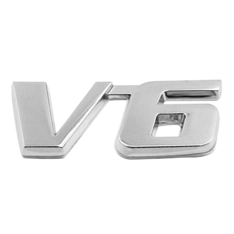Deco Badge Chrome V6