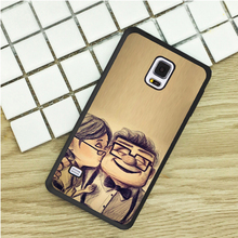 Up Pixar Cartoon Kiss Sketch Art TPU Phone Cases For Samsung Galaxy S3 S4 S5 mini S6 S7 Edge S8 plus Note 2 3 4 5 Cover Soft(China)