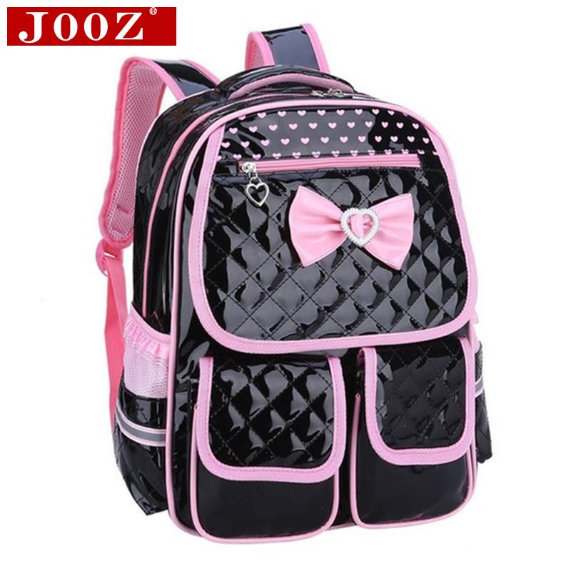 New lovely Children School Bags for girls backpack Students leather Kids Book Bag butterfly Knot Backpacks for Teenage Girls<br><br>Aliexpress
