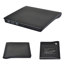 Ultra thin Slim Universal Computer Optical Drive External USB 3.0 CD DVD DVDRW Burner Writer Drive for Laptop Black High Quality
