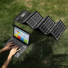 Portable 40W portable solar panel charger for 12V battery and 18v laptap