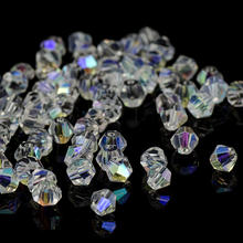 Crystal AB Bicone Beads 5328/5301 100PCS/LOT 4mm Czech Loose Crystal Beads/Faceted Glass Beads for DIY Jewelry Necklace Bracelet