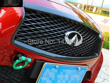 FOR:2014-2016 INFINITI Q50 S CARBON FIBER FRONT GRILL OUTLINE TRIM COVER OVERLAY(China)
